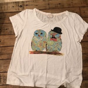 Anthropologie Casual Owl T-shirt